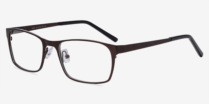 Dublin Coffee Metal Eyeglass Frames from EyeBuyDirect, Angle View