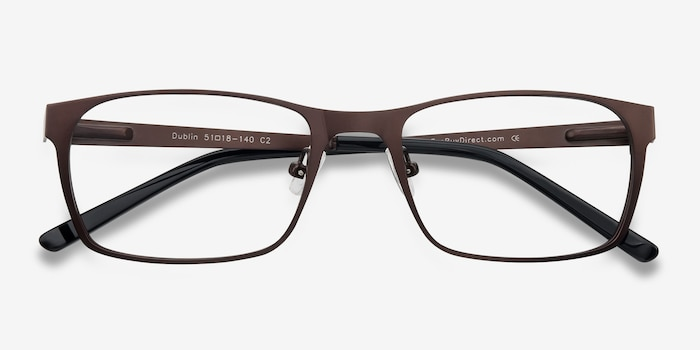 Dublin Coffee Metal Eyeglass Frames from EyeBuyDirect, Closed View