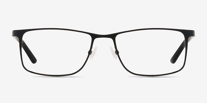 Clinton  Black  Metal Eyeglass Frames from EyeBuyDirect, Front View