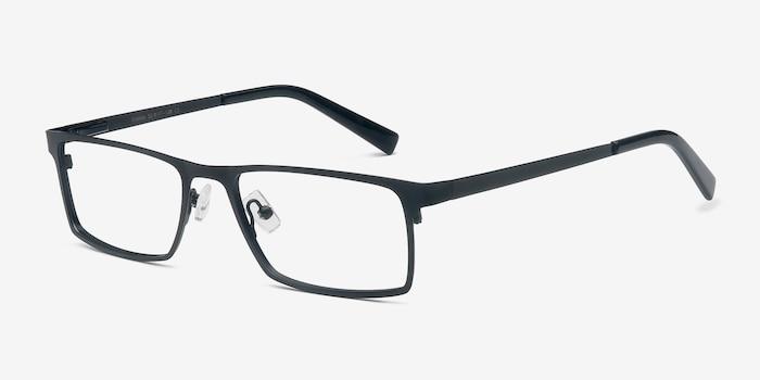 Cristian Black Metal Eyeglass Frames from EyeBuyDirect, Angle View