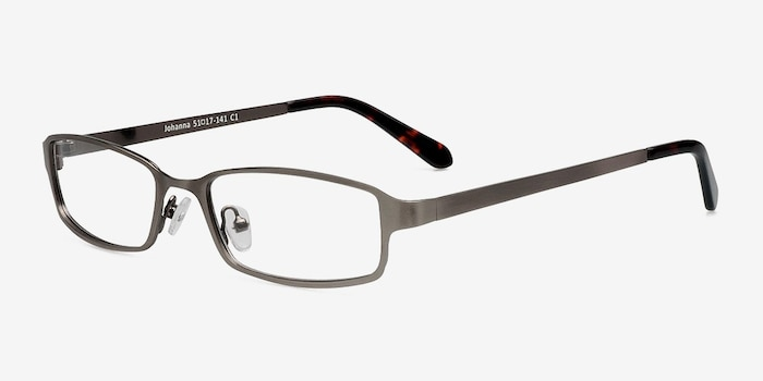Johanna  Gunmetal  Metal Eyeglass Frames from EyeBuyDirect, Angle View