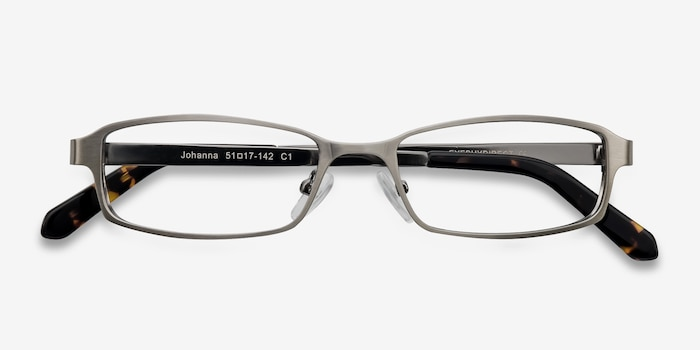 Johanna  Gunmetal  Metal Eyeglass Frames from EyeBuyDirect, Closed View