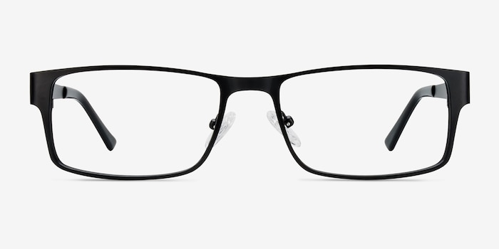 Elliot  Black  Metal Eyeglass Frames from EyeBuyDirect, Front View