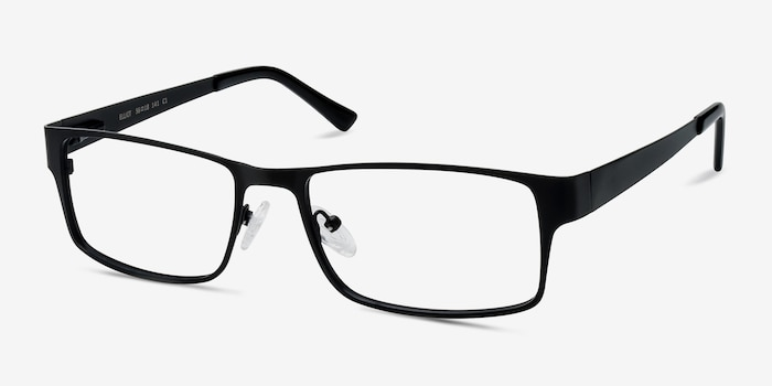 Elliot  Black  Metal Eyeglass Frames from EyeBuyDirect, Angle View