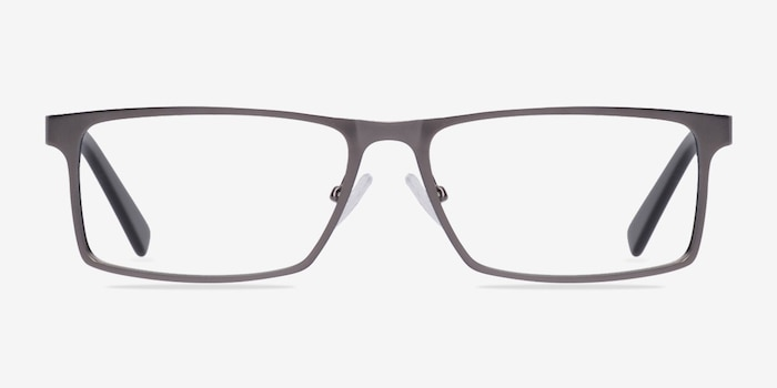 Cristian Gunmetal/Black Metal Eyeglass Frames from EyeBuyDirect, Front View