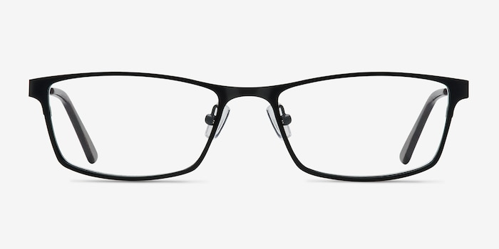 Germantown  Black  Metal Eyeglass Frames from EyeBuyDirect, Front View