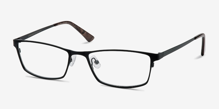 Germantown  Black  Metal Eyeglass Frames from EyeBuyDirect, Angle View