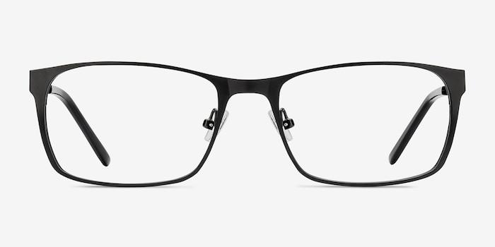 Dublin Matte Black Metal Eyeglass Frames from EyeBuyDirect, Front View