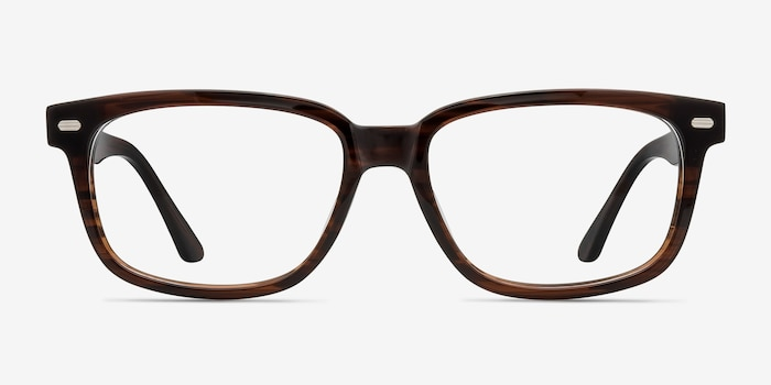 John Brown Acetate Eyeglass Frames from EyeBuyDirect, Front View