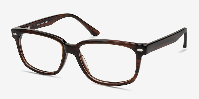 John Brown Acetate Eyeglass Frames from EyeBuyDirect, Angle View