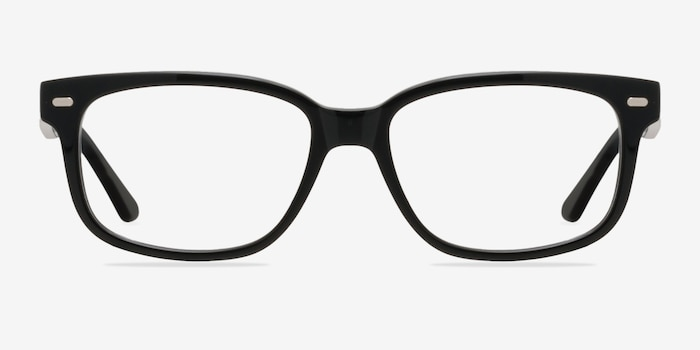 John Black Acetate Eyeglass Frames from EyeBuyDirect, Front View
