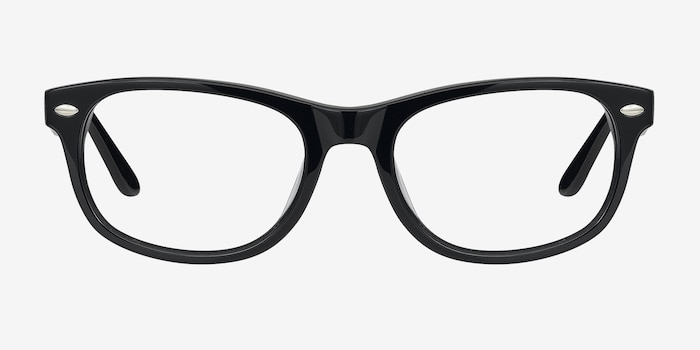 HA979 Black Acetate Eyeglass Frames from EyeBuyDirect, Front View