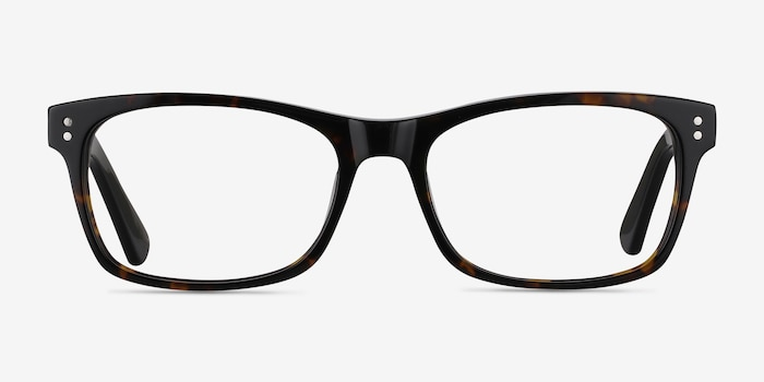 Ridge Tortoise Acetate Eyeglass Frames from EyeBuyDirect, Front View