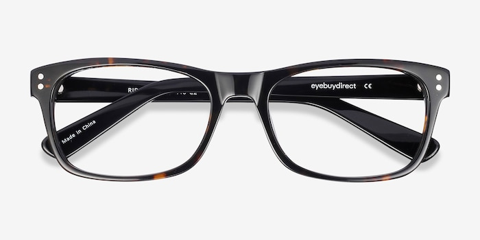 Ridge Tortoise Acetate Eyeglass Frames from EyeBuyDirect, Closed View