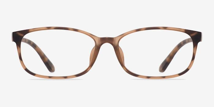 Sutherlin Tortoise Plastic Eyeglass Frames from EyeBuyDirect, Front View