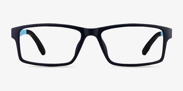 Bandon Navy Plastic Eyeglass Frames from EyeBuyDirect, Front View