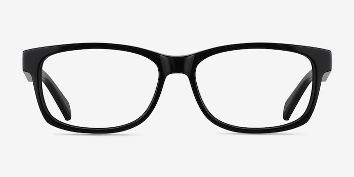 2b64577fc1 Kyle Black Acetate Eyeglass Frames from EyeBuyDirect