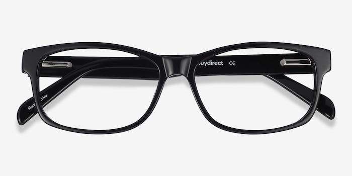 0052eb01102 Kyle Black Acetate Eyeglass Frames from EyeBuyDirect