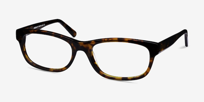 Presley Brown Acetate Eyeglass Frames from EyeBuyDirect, Angle View