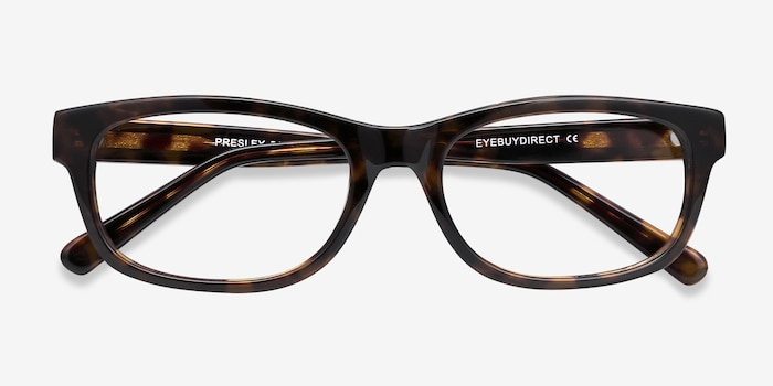 Presley Brown Acetate Eyeglass Frames from EyeBuyDirect, Closed View
