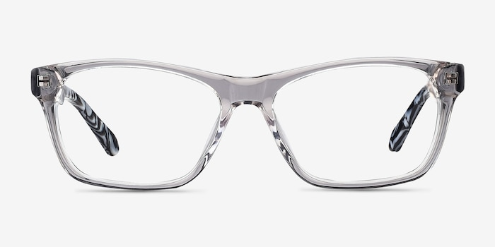 Alivia Gray/Clear Acetate Eyeglass Frames from EyeBuyDirect, Front View