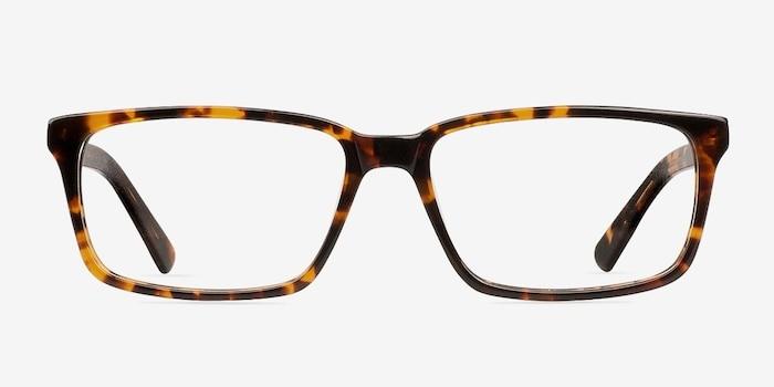 Denny Brown/Tortoise Acétate Montures de Lunettes d'EyeBuyDirect, Vue de Face