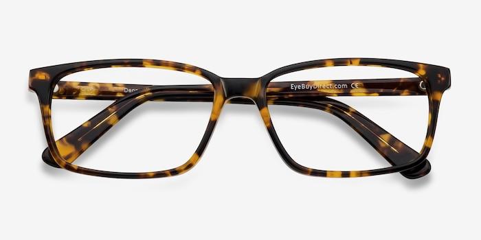 Denny Brown/Tortoise Acétate Montures de Lunettes d'EyeBuyDirect, Vue Rapprochée