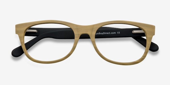 Panama Wood Acetate Eyeglass Frames from EyeBuyDirect, Closed View