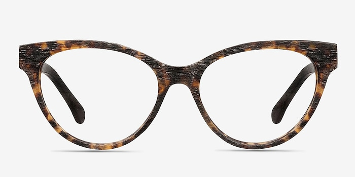 Jane Birkin Brown/Tortoise Acetate Eyeglass Frames from EyeBuyDirect, Front View