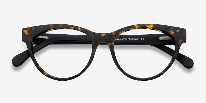 Jane Birkin Brown/Tortoise Acetate Eyeglass Frames from EyeBuyDirect, Closed View