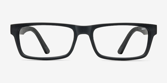 Cambridge Black Acetate Eyeglass Frames from EyeBuyDirect, Front View