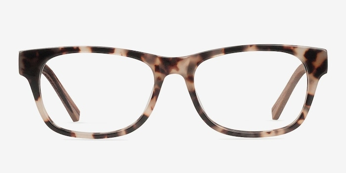 Willow Brown/Tortoise Wood-texture Montures de Lunettes d'EyeBuyDirect, Vue de Face