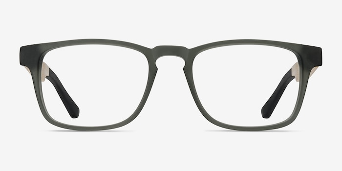 Lincoln Gray Acetate Eyeglass Frames from EyeBuyDirect, Front View