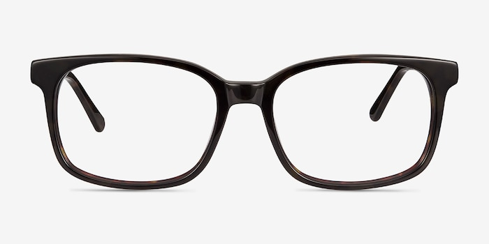 Claudia Brown/Tortoise Acetate Eyeglass Frames from EyeBuyDirect, Front View