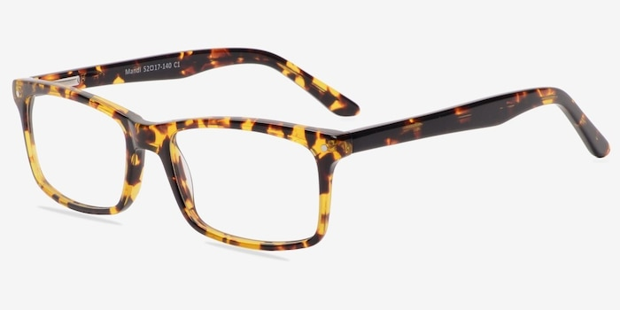 Mandi Tortoise Acetate Eyeglass Frames from EyeBuyDirect, Angle View