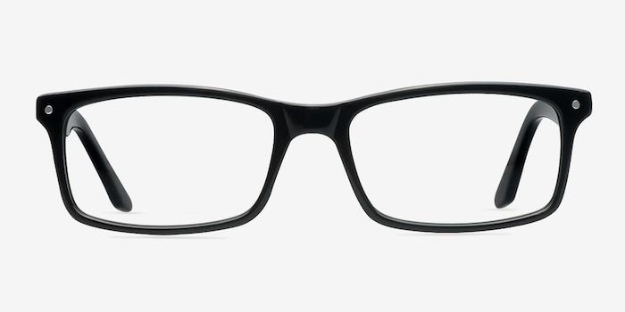 Mandi Noir Acétate Montures de Lunettes d'EyeBuyDirect, Vue de Face