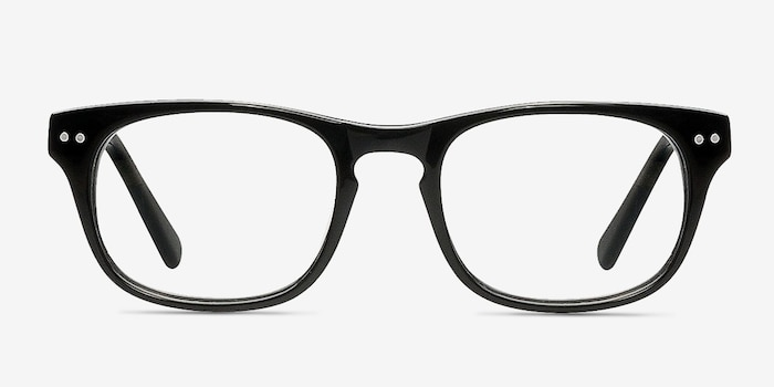 Carla Black Acetate Eyeglass Frames from EyeBuyDirect, Front View
