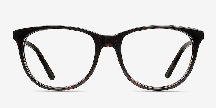 Anahi Brown/Tortoise Acetate Eyeglass Frames from EyeBuyDirect, Front View
