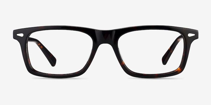Nicola Brown/Tortoise Acetate Eyeglass Frames from EyeBuyDirect, Front View