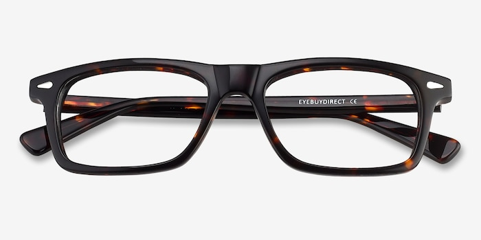 Nicola Brown/Tortoise Acetate Eyeglass Frames from EyeBuyDirect, Closed View