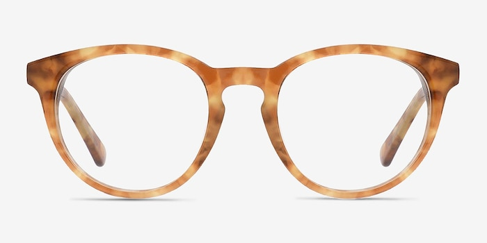 Stanford Brown/Tortoise Acetate Eyeglass Frames from EyeBuyDirect, Front View