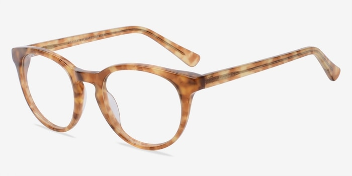 Stanford Brown/Tortoise Acetate Eyeglass Frames from EyeBuyDirect, Angle View