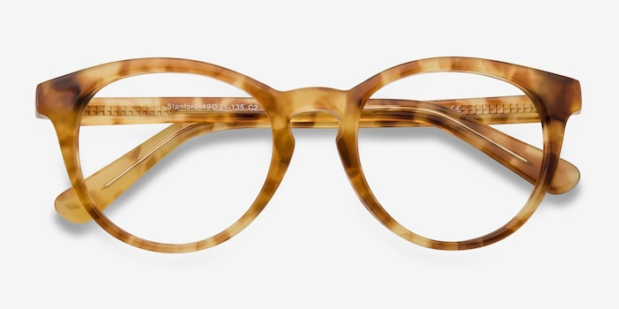 Stanford Brown/Tortoise Acetate Eyeglass Frames from EyeBuyDirect, Closed View