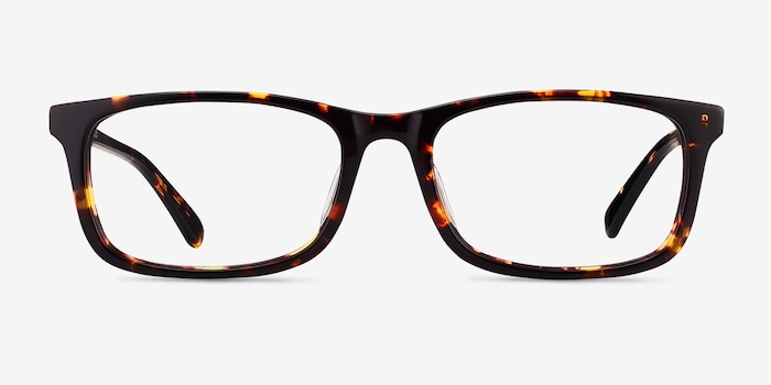 Pat Brown/Tortoise Acetate Eyeglass Frames from EyeBuyDirect, Front View