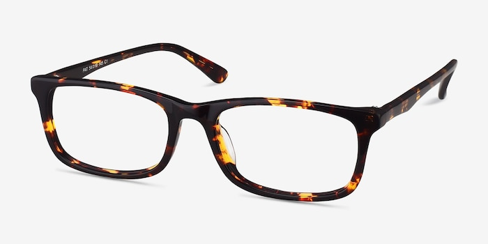 Pat Brown/Tortoise Acetate Eyeglass Frames from EyeBuyDirect, Angle View