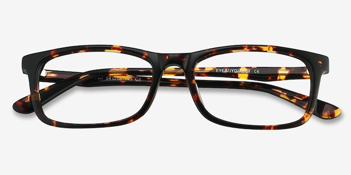 Pat Brown/Tortoise Acetate Eyeglass Frames from EyeBuyDirect, Closed View