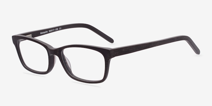 Mesquite  Coffee Acetate Eyeglass Frames from EyeBuyDirect, Angle View