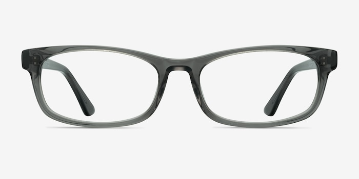 Opal Gray Acetate Eyeglass Frames from EyeBuyDirect, Front View