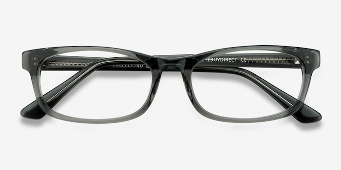 Opal Gray Acetate Eyeglass Frames from EyeBuyDirect, Closed View