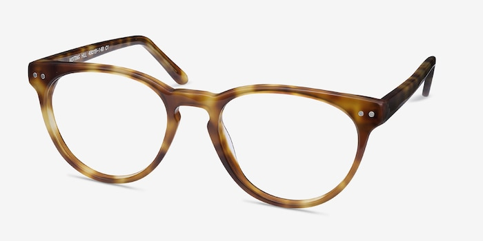 Notting Hill Tortoise Acetate Eyeglass Frames from EyeBuyDirect, Angle View